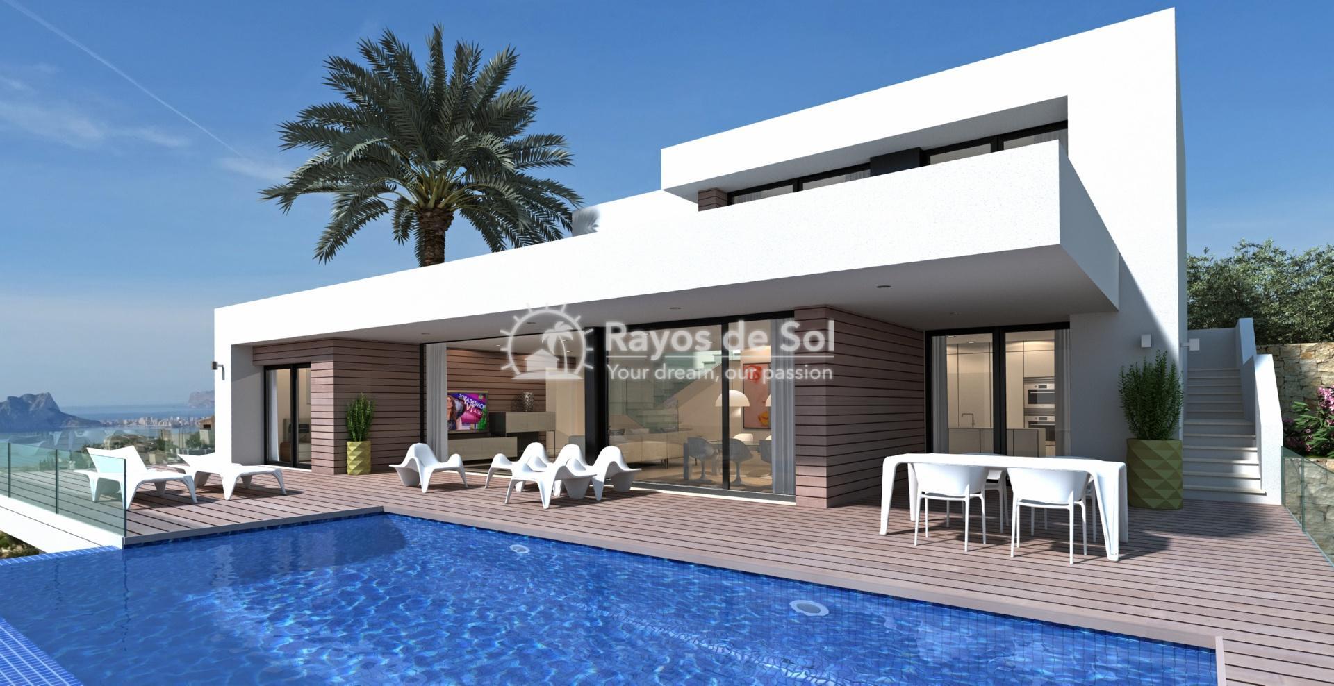 Villa with seaviews in Cumbre del Sol, Benitachell, Costa Blanca (BEVAJABA) - 1