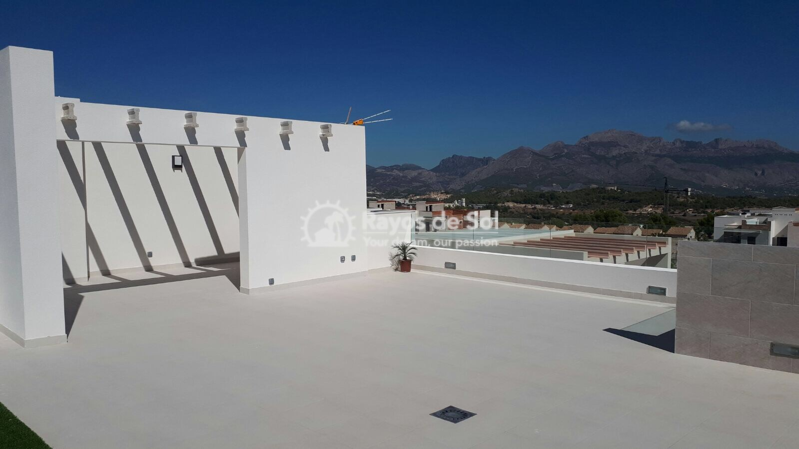 Semidetached single storey villa  in Polop, Costa Blanca (POWOBV) - 15