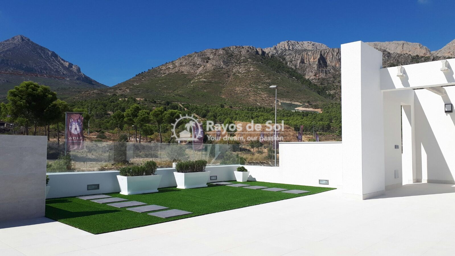Semidetached single storey villa  in Polop, Costa Blanca (POWOBV) - 6