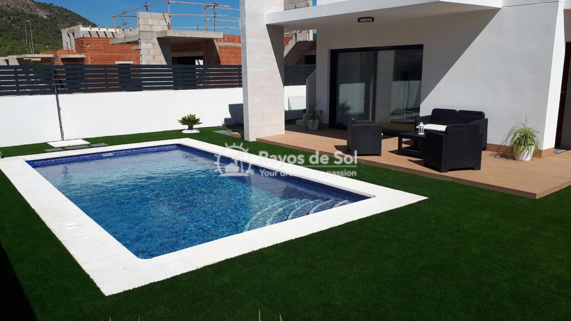 Semidetached single storey villa  in Polop, Costa Blanca (POWOBV) - 1