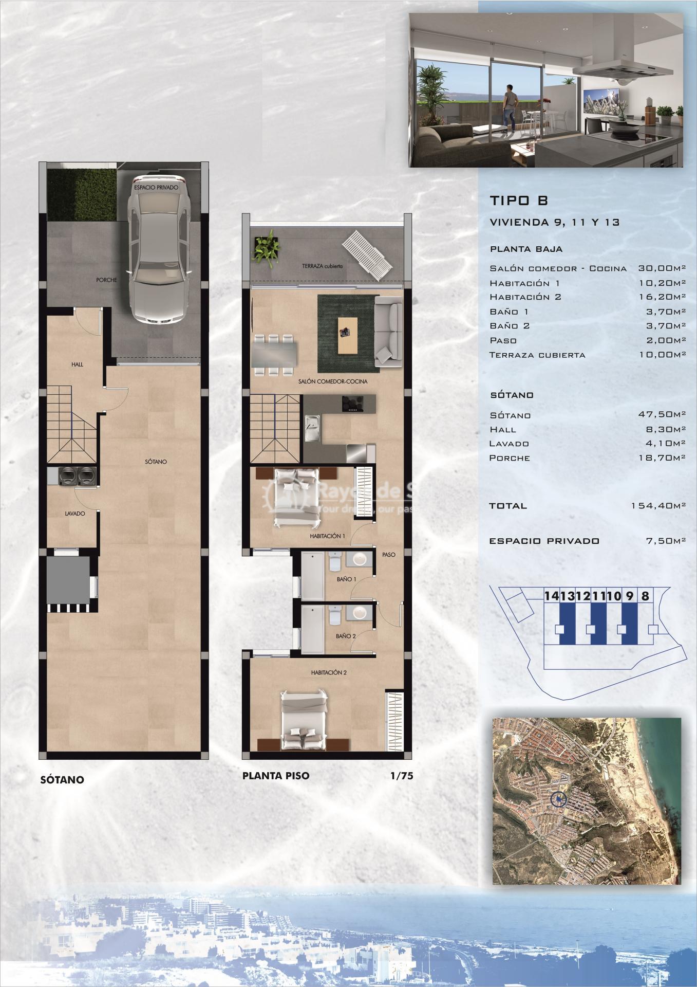 Terraced apartment  in Gran Alacant, Santa Pola, Costa Blanca (GASUSP2-2B) - 2