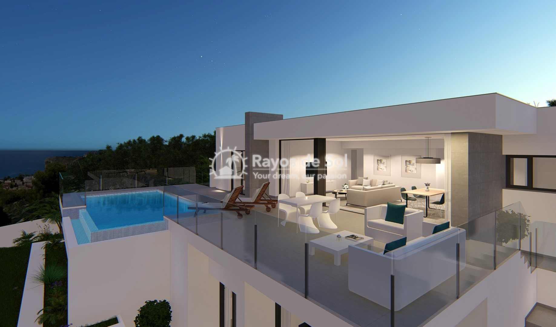 Single storey villa in Cumbre del Sol, Benitachell, Costa Blanca (BEVALIDCR) - 2