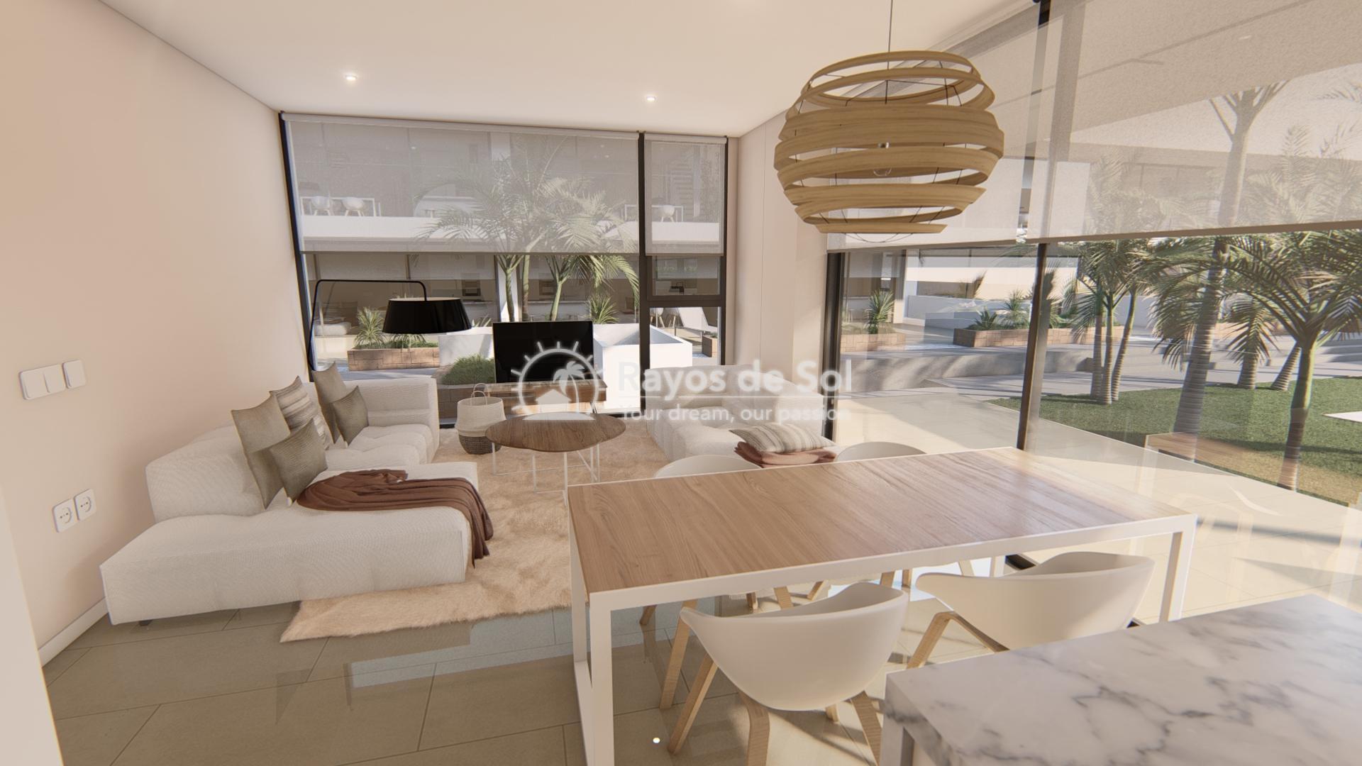 Modern ground floor apartment   in Mar de Cristal, La Manga del Mar Menor, Costa Cálida (Antilla-2d-b) - 6
