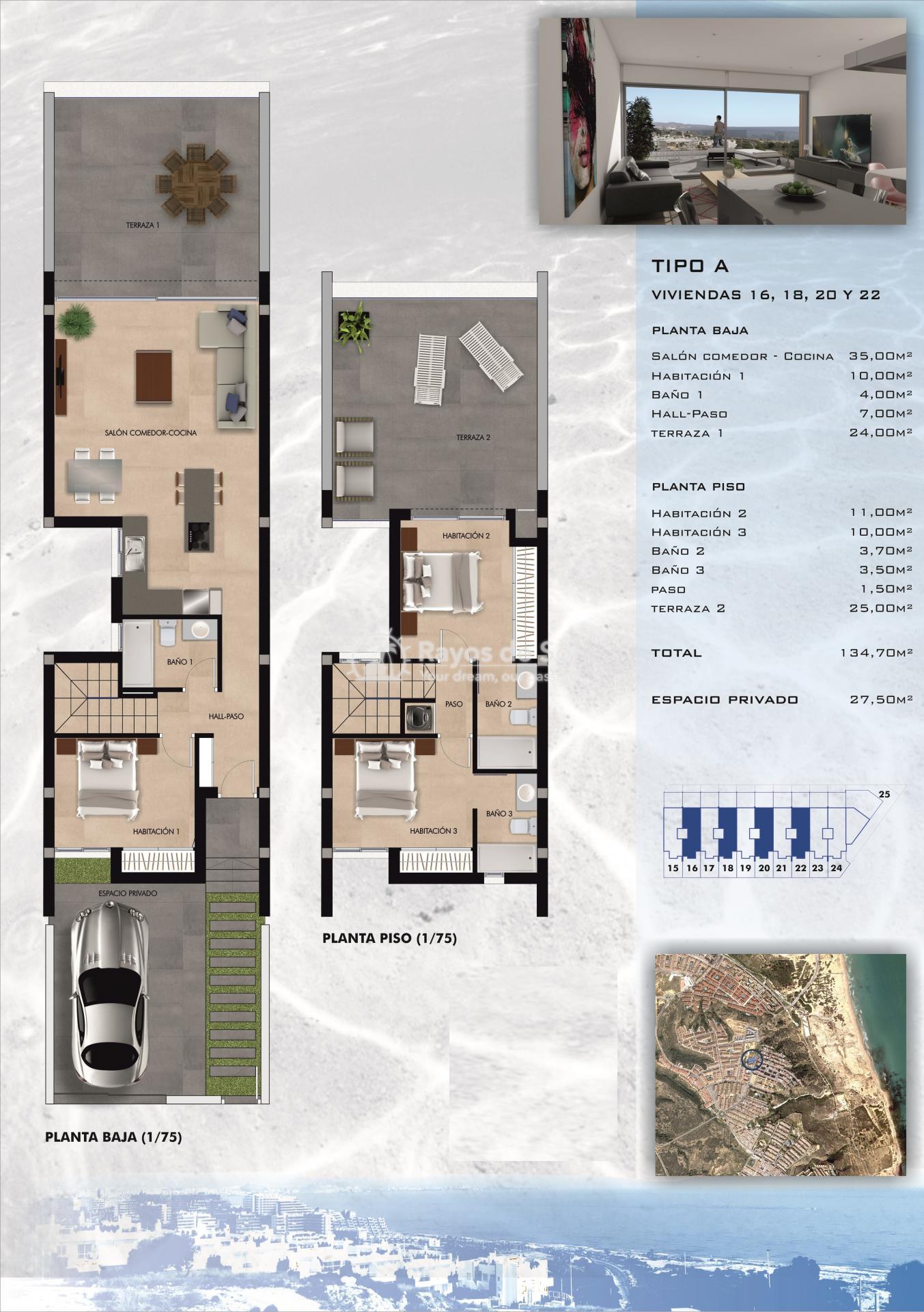 Terraced apartment  in Gran Alacant, Santa Pola, Costa Blanca (GASUSP3-3A) - 83