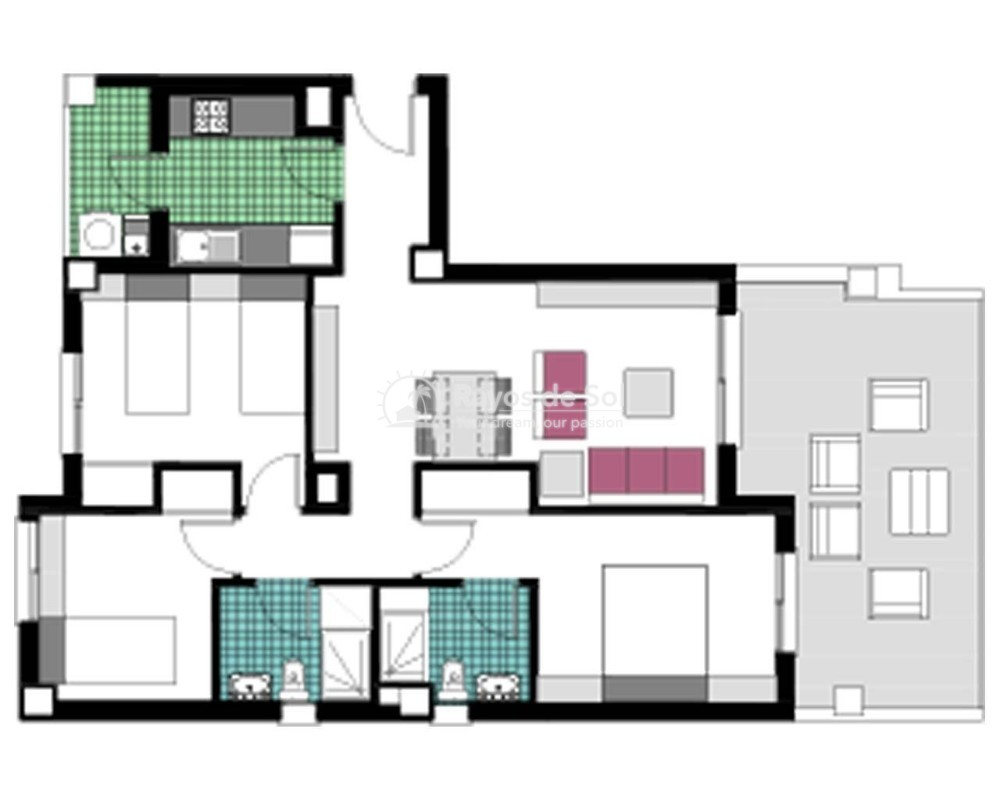 Apartment  in Mil Palmeras, Costa Blanca (garda-3d) - 17