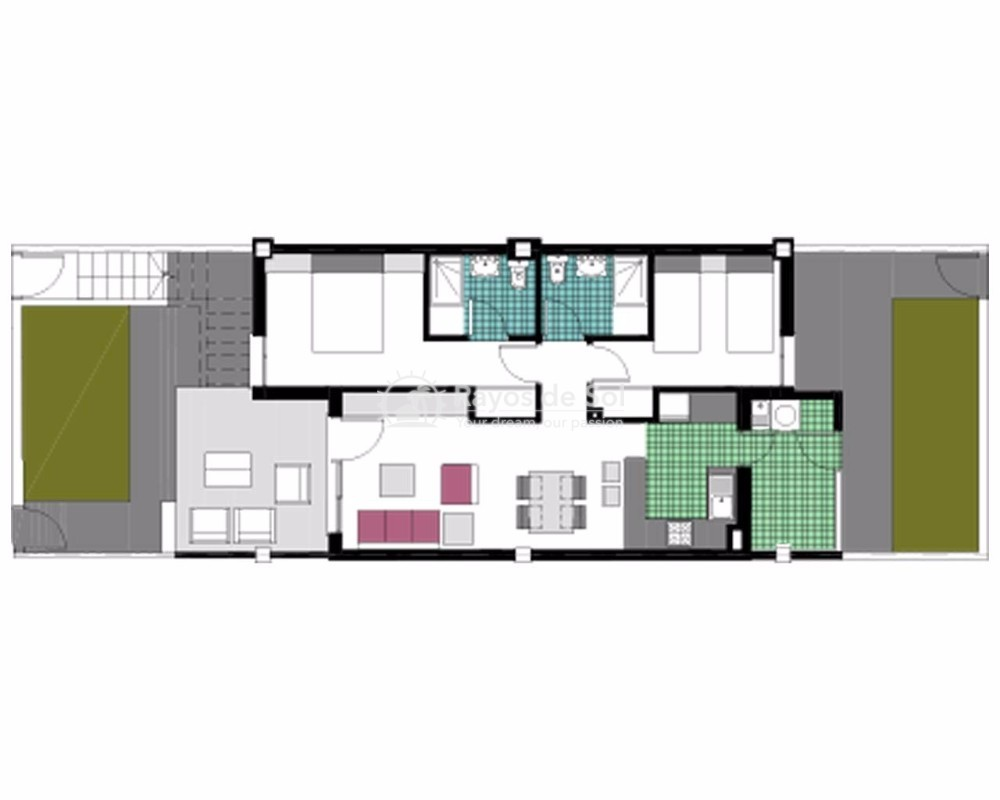 Ground Floor Apartment  in Mil Palmeras, Costa Blanca (garda-gfb) - 18