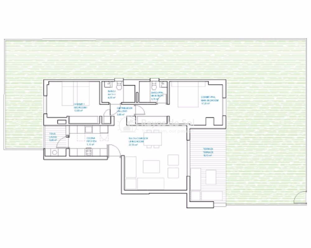 Apartment  in Punta Prima, Orihuela Costa, Costa Blanca (panoramam-gf-2d) - 21