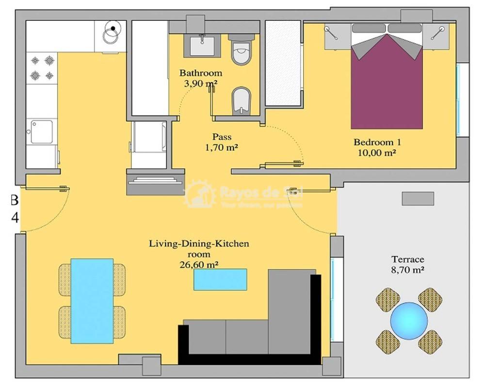 Apartment  in Villamartin, Orihuela Costa, Costa Blanca (sungolfb-1d) - 17