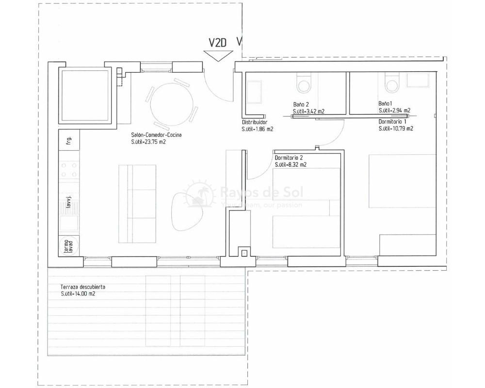 Apartment  in Playa Flamenca, Orihuela Costa, Costa Blanca (turquesadm-2d) - 7