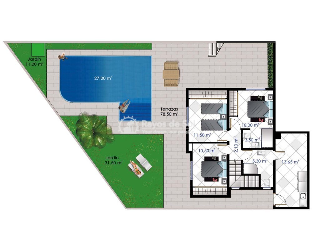 Villa  in Ciudad Quesada, Costa Blanca (cq2-macarena) - 11