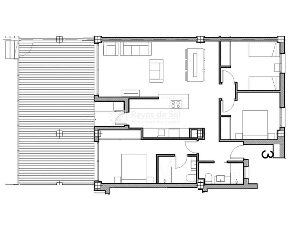 Apartment  in Villamartin, Orihuela Costa, Costa Blanca (vgardens2-gf-3d) - 10