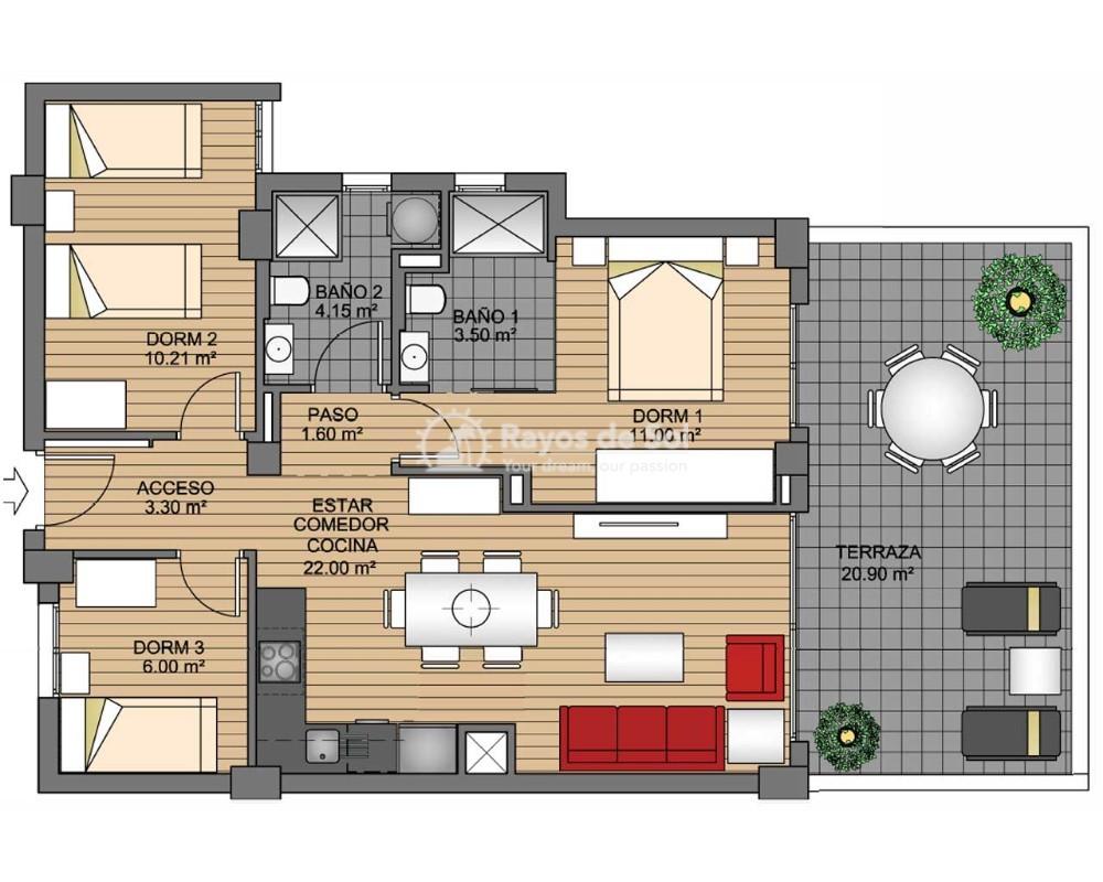 Apartment  in Orihuela Costa, Costa Blanca (greenh-tipo-3d) - 12