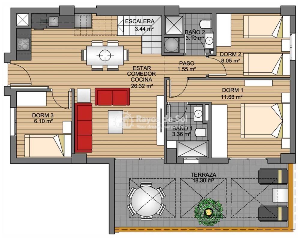 Apartment  in Villamartin, Orihuela Costa, Costa Blanca (greenh-ph-3d) - 13
