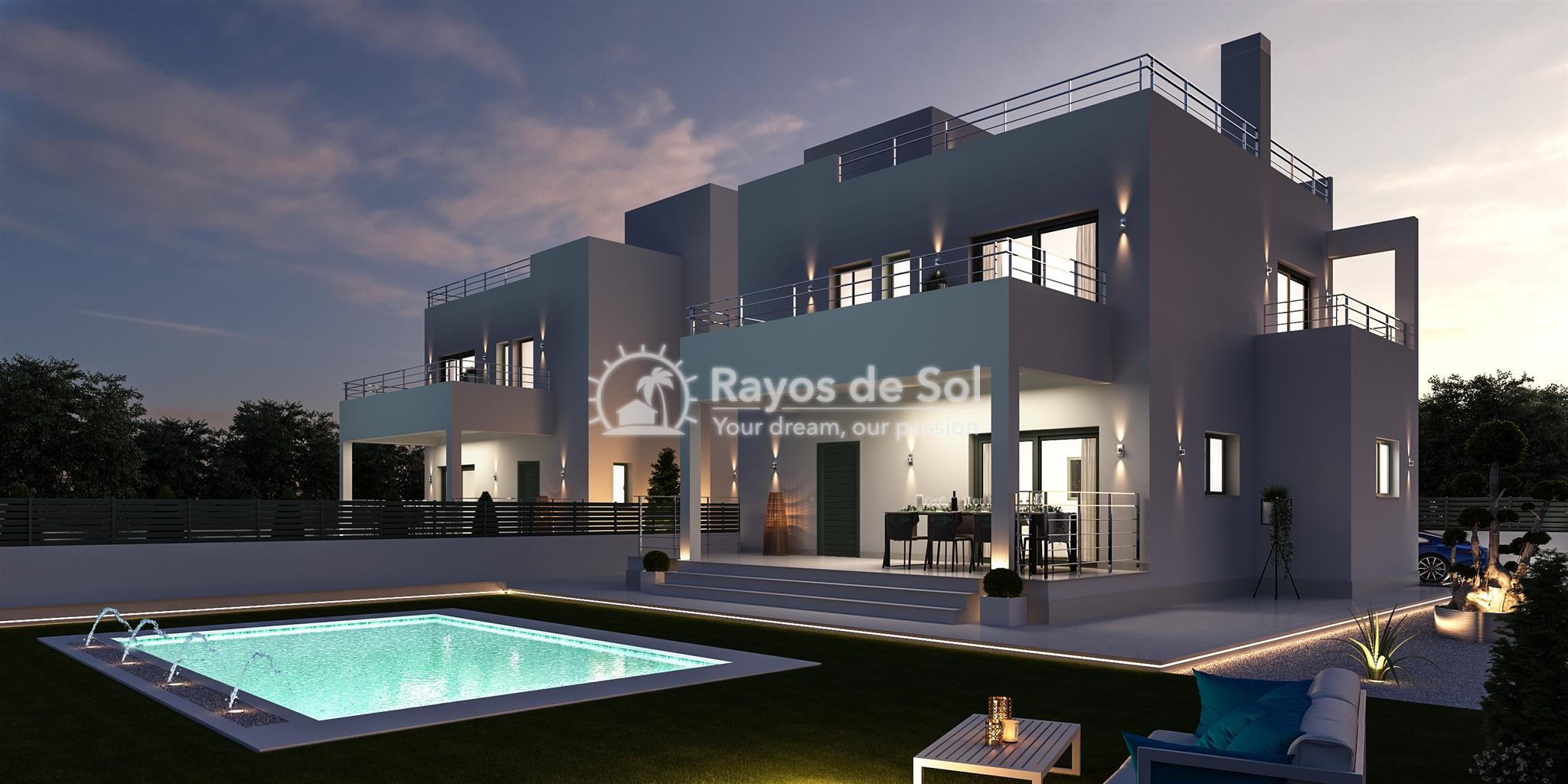 Detached villa  in La Marina, Costa Blanca (npinet15-3d-villa) - 11