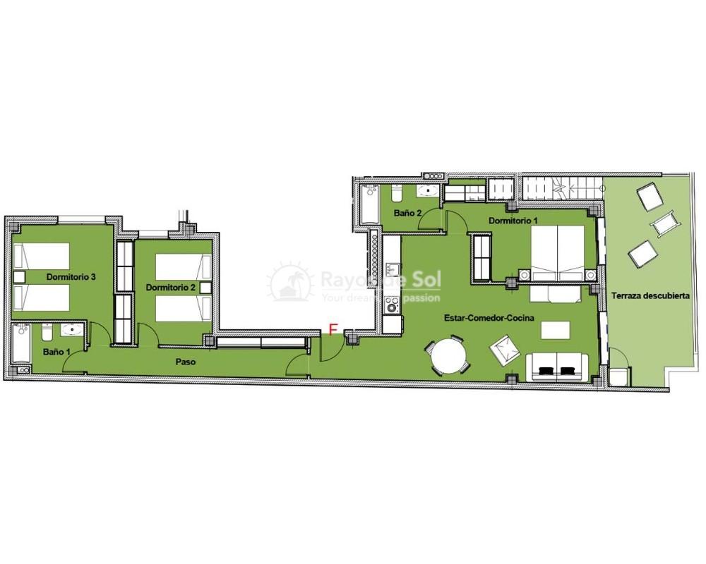 Penthouse  in Torrevieja, Costa Blanca (alegria14-ph-3d) - 21