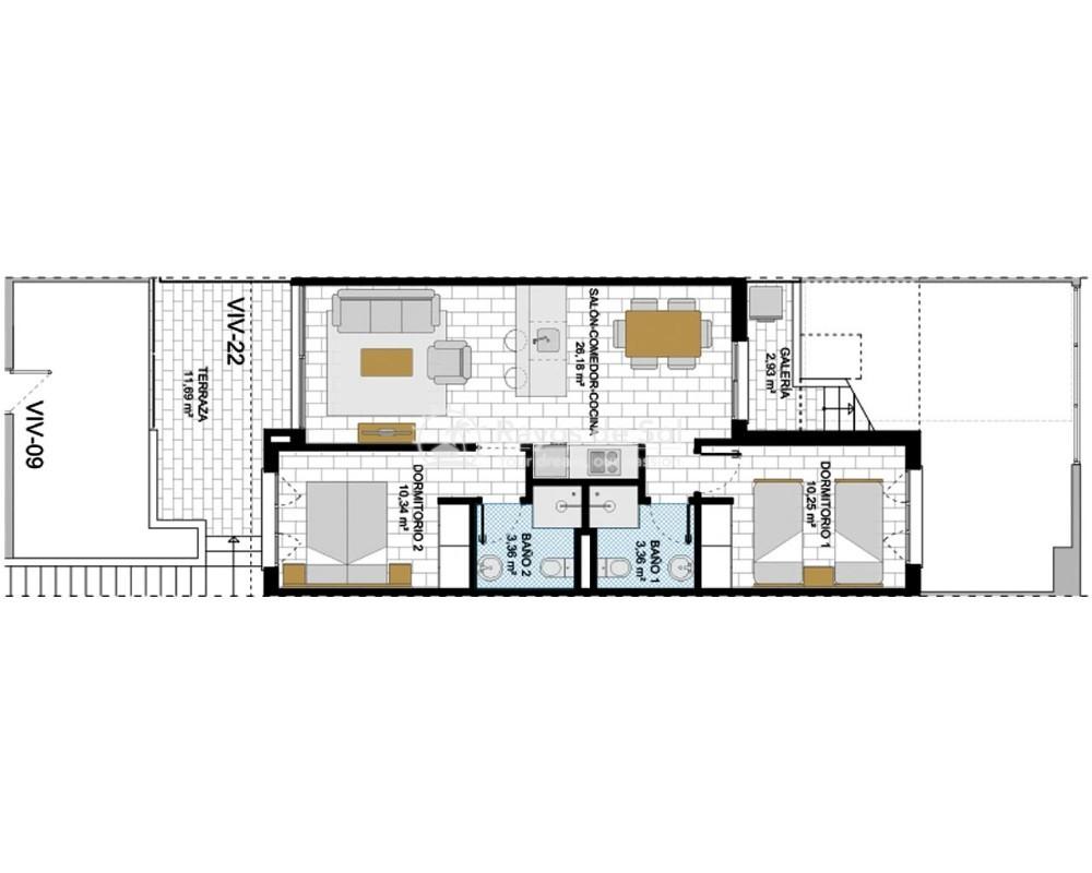 Penthouse  in Pilar de la Horadada, Costa Blanca (ramblab-tf) - 9