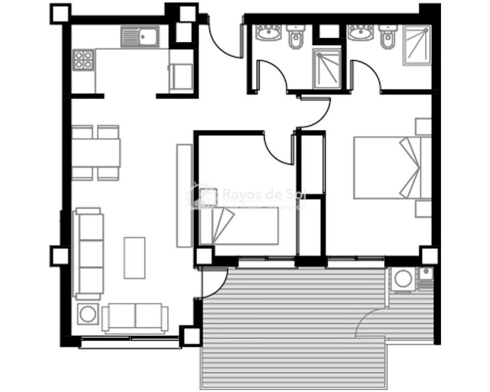 Apartment  in Torre de la Horadada, Pilar de la Horadada, Costa Blanca (pintoral-2d) - 5