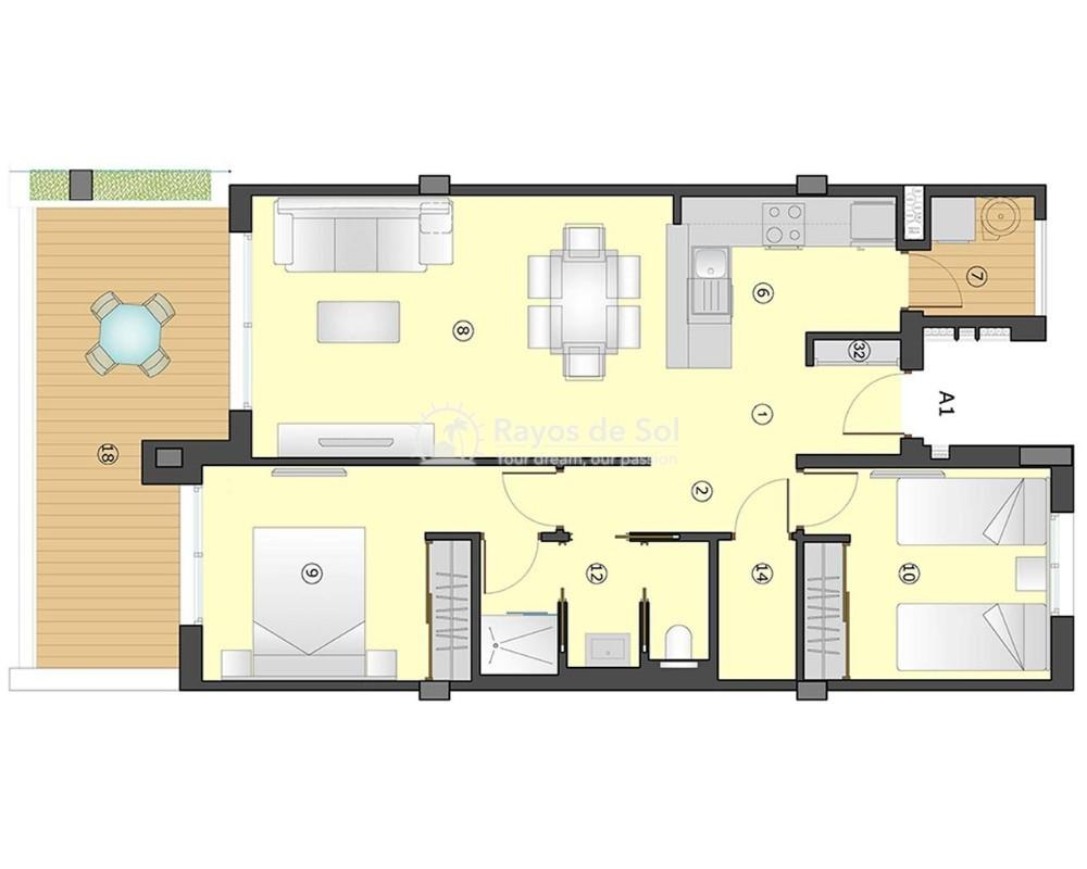 Apartment  in Villamartin, Orihuela Costa, Costa Blanca (gala-2d) - 9