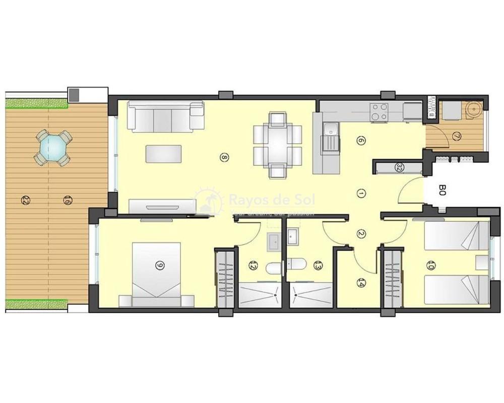 Apartment  in Villamartin, Orihuela Costa, Costa Blanca (gala-gf-2d) - 9