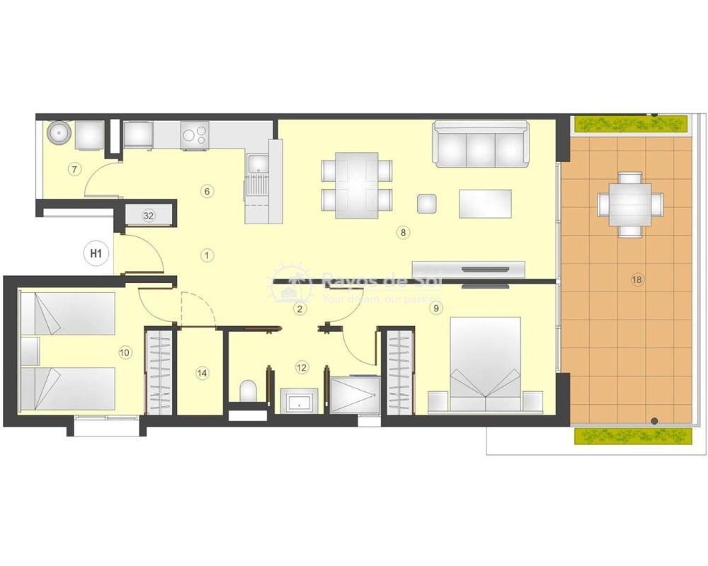 Apartment  in Playa Flamenca, Orihuela Costa, Costa Blanca (flamencav-2d) - 12