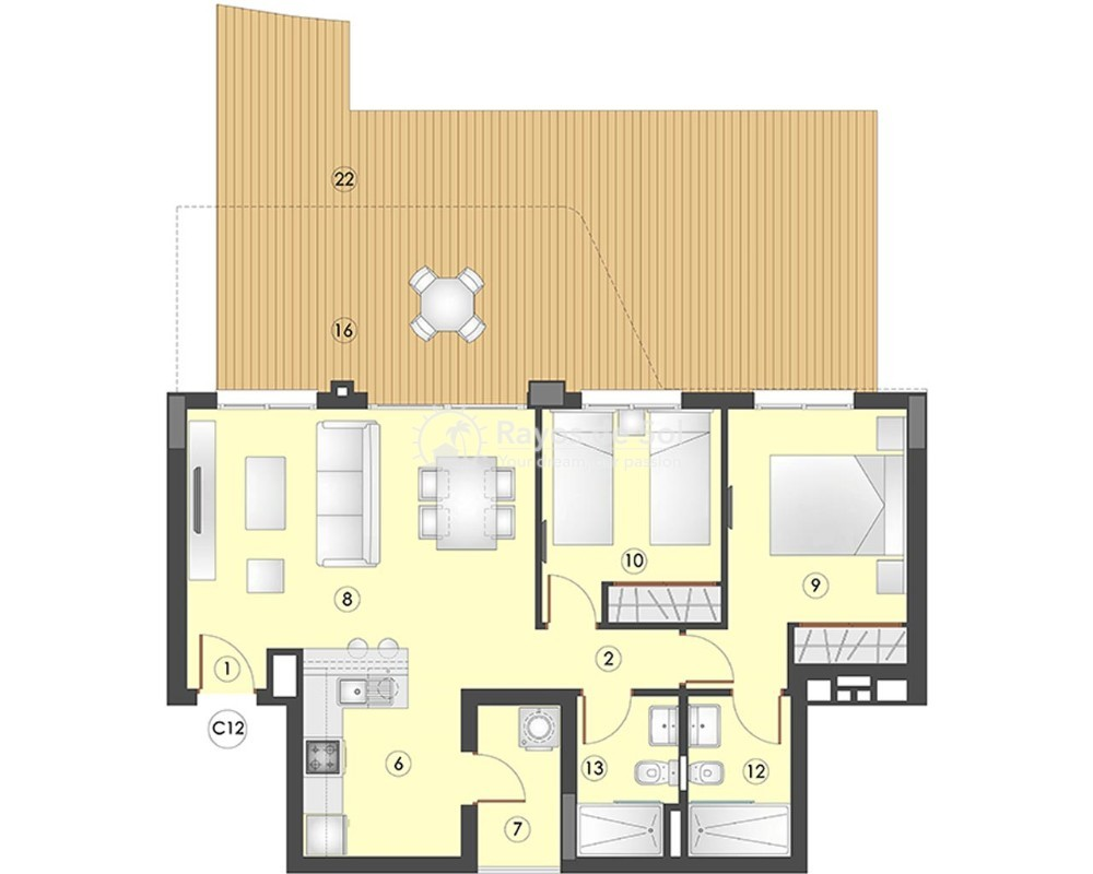 Apartment  in Los Arenales Del Sol, Costa Blanca (arenalesp9-gf-2d) - 6
