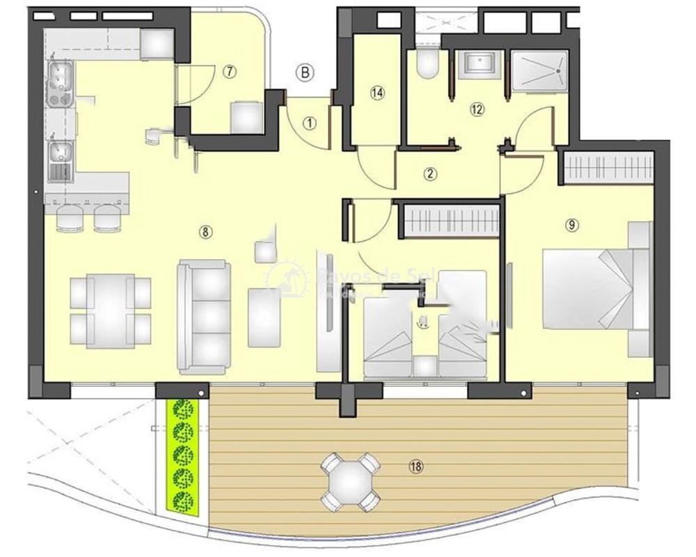 Apartment  in Los Arenales Del Sol, Costa Blanca (arenalesp10-2d) - 6