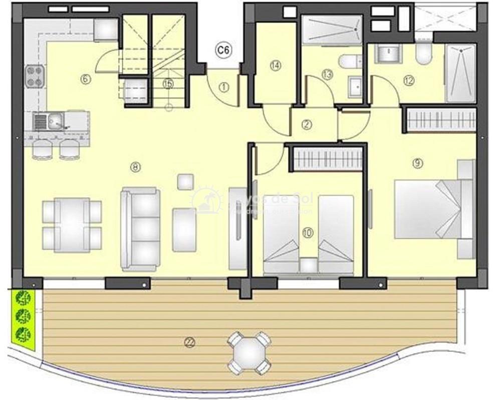 Penthouse  in Los Arenales Del Sol, Costa Blanca (arenalesp10-ph-2d) - 5