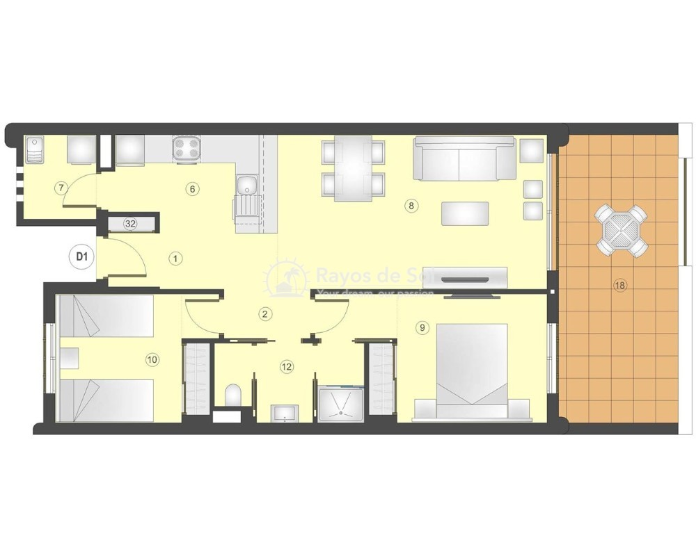 Apartment in San Juan Terreros, San Juan de los Terreros, Costa Almería (marpulpiap-2d) - 13