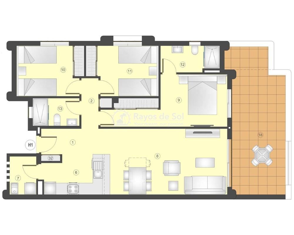 Apartment in San Juan Terreros, San Juan de los Terreros, Costa Almería (marpulpiap-3d) - 7