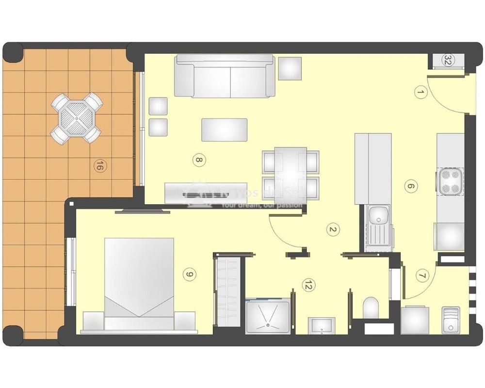 Apartment in San Juan Terreros, San Juan de los Terreros, Costa Almería (marpulpiap-gf-1d) - 13
