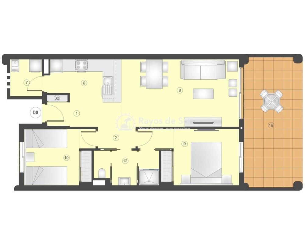 Apartment in San Juan Terreros, San Juan de los Terreros, Costa Almería (marpulpiap-gf-2d) - 8
