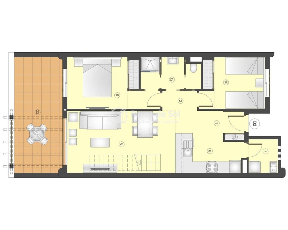 Apartment in San Juan Terreros, San Juan de los Terreros, Costa Almería (marpulpiap-ph-2d) - 12