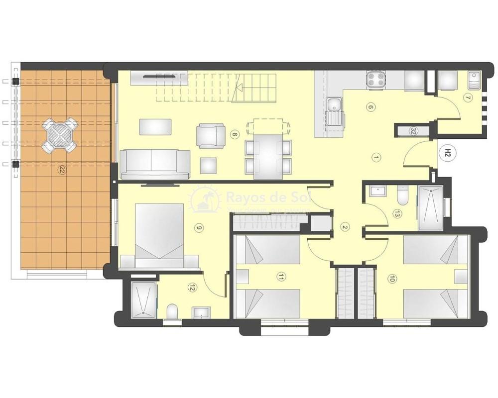 Apartment in San Juan Terreros, San Juan de los Terreros, Costa Almería (marpulpiap-ph-3d) - 12