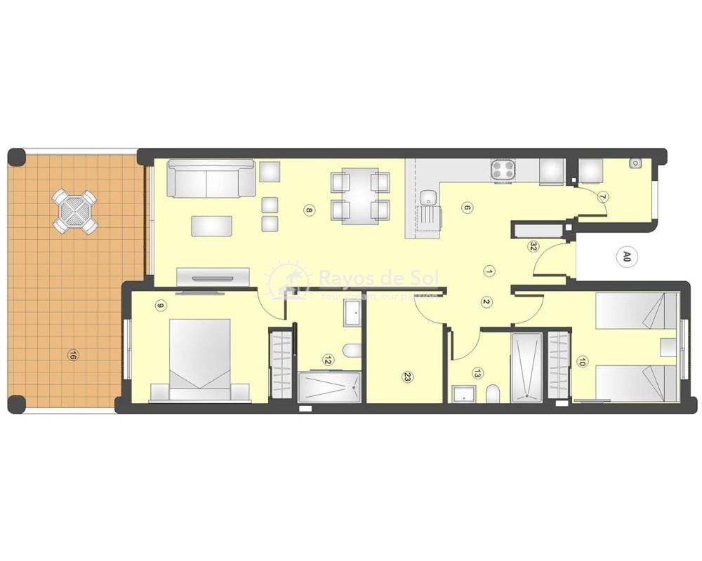 Ground Floor Apartment in San Juan Terreros, San Juan de los Terreros, Costa Almería (marpulpi6-gf-2d) - 7