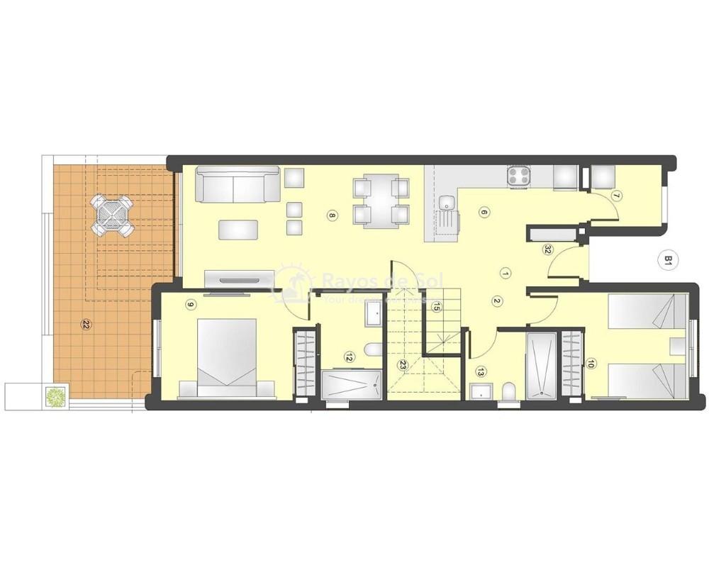 Ground Floor Apartment in San Juan Terreros, San Juan de los Terreros, Costa Almería (marpulpi6-tf-2d) - 7