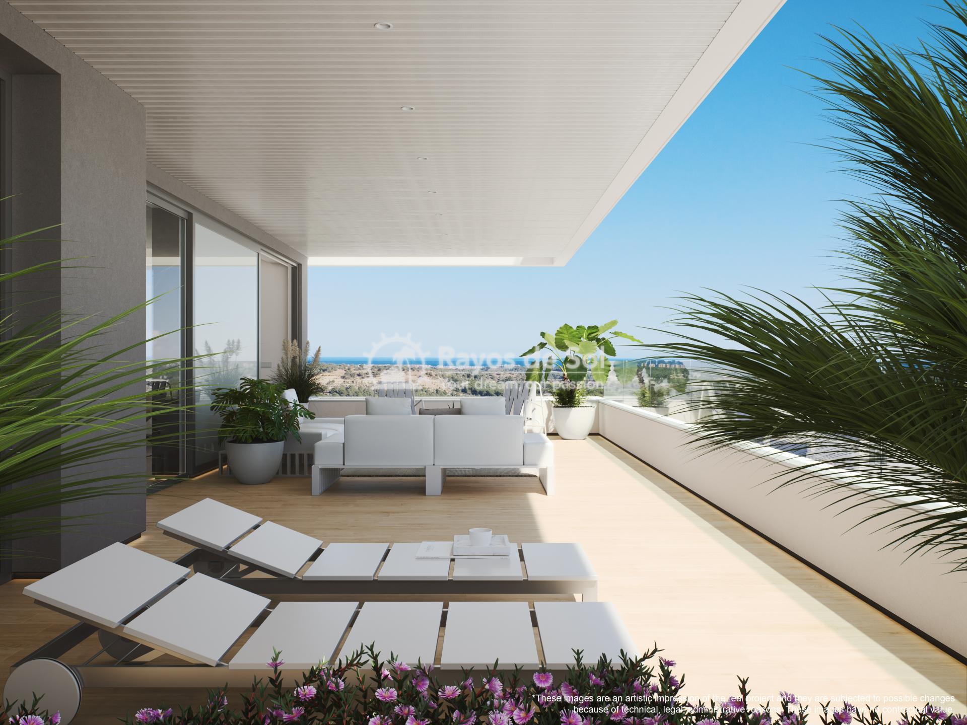 Penthouse  in Las Colinas, Orihuela Costa, Costa Blanca (madronoap-ph-3d) - 22