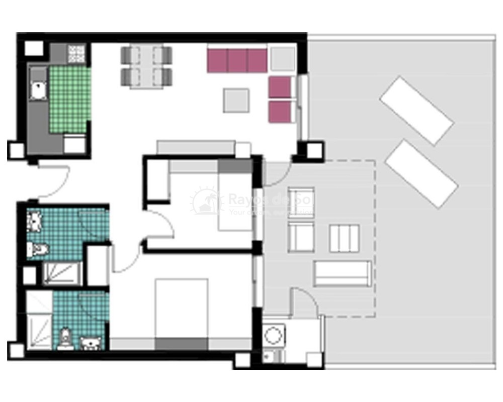 Apartment  in Mil Palmeras, Costa Blanca (garda-gfap-2d) - 17