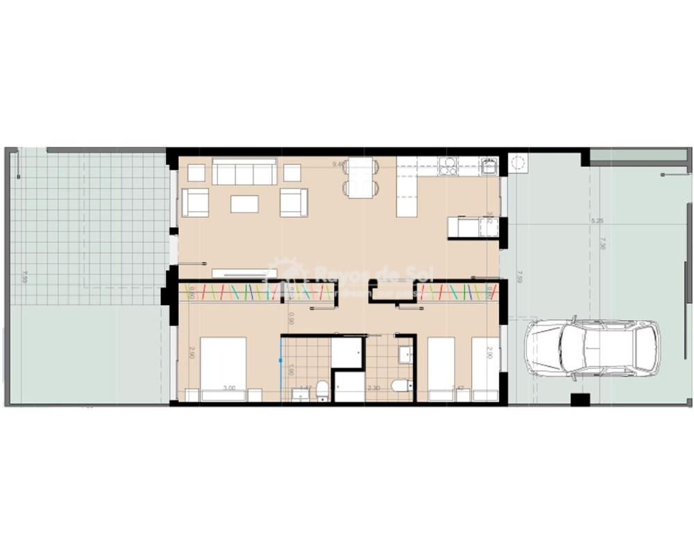 Apartment  in Torre de la Horadada, Pilar de la Horadada, Costa Blanca (nova2-apt-gf-2d) - 8