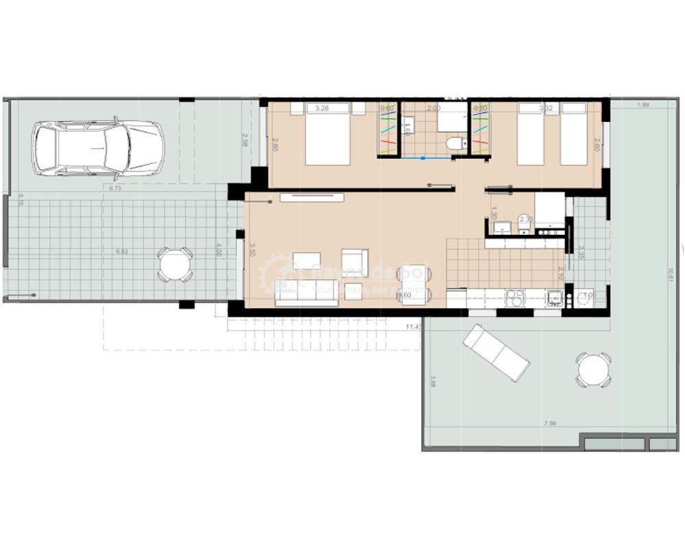 Ground Floor Apartment  in Torre de la Horadada, Pilar de la Horadada, Costa Blanca (nova2-gfb) - 8