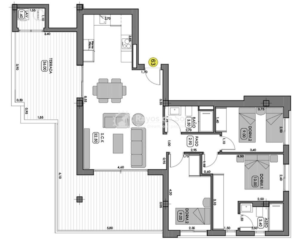 Apartment  in Campoamor, Orihuela Costa, Costa Blanca (boavista-ph-3d) - 5