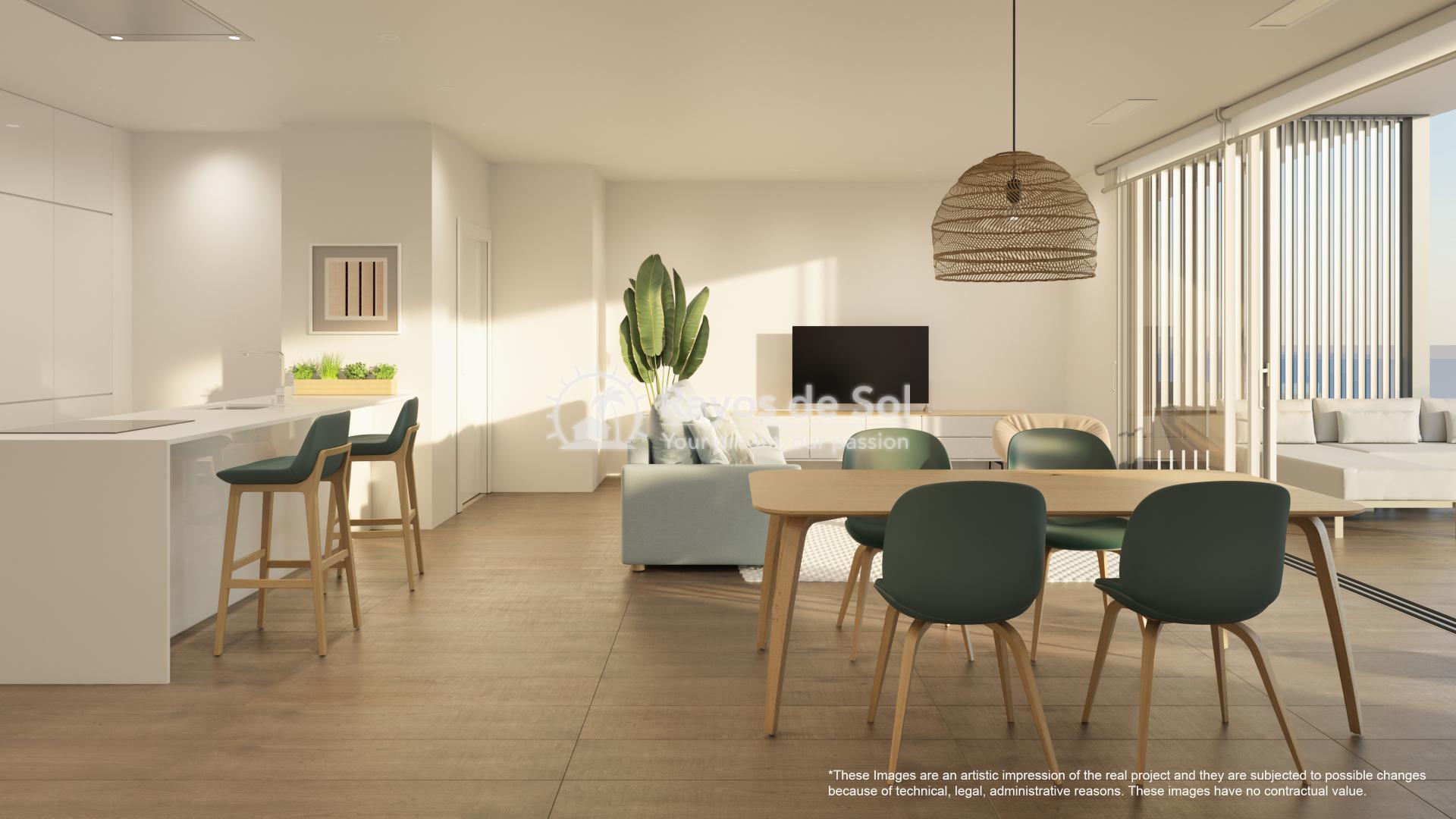 Apartment  in Las Colinas, Orihuela Costa, Costa Blanca (nisperoap-3d) - 6