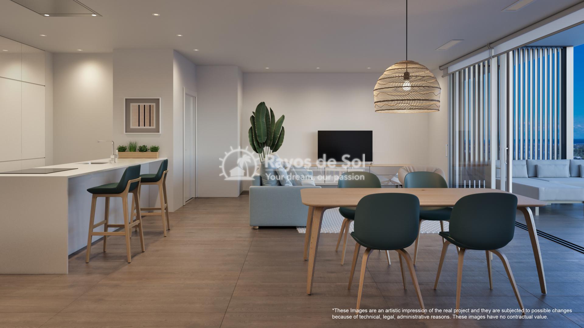 Penthouse  in Las Colinas, Orihuela Costa, Costa Blanca (nisperoap-ph-3d) - 6