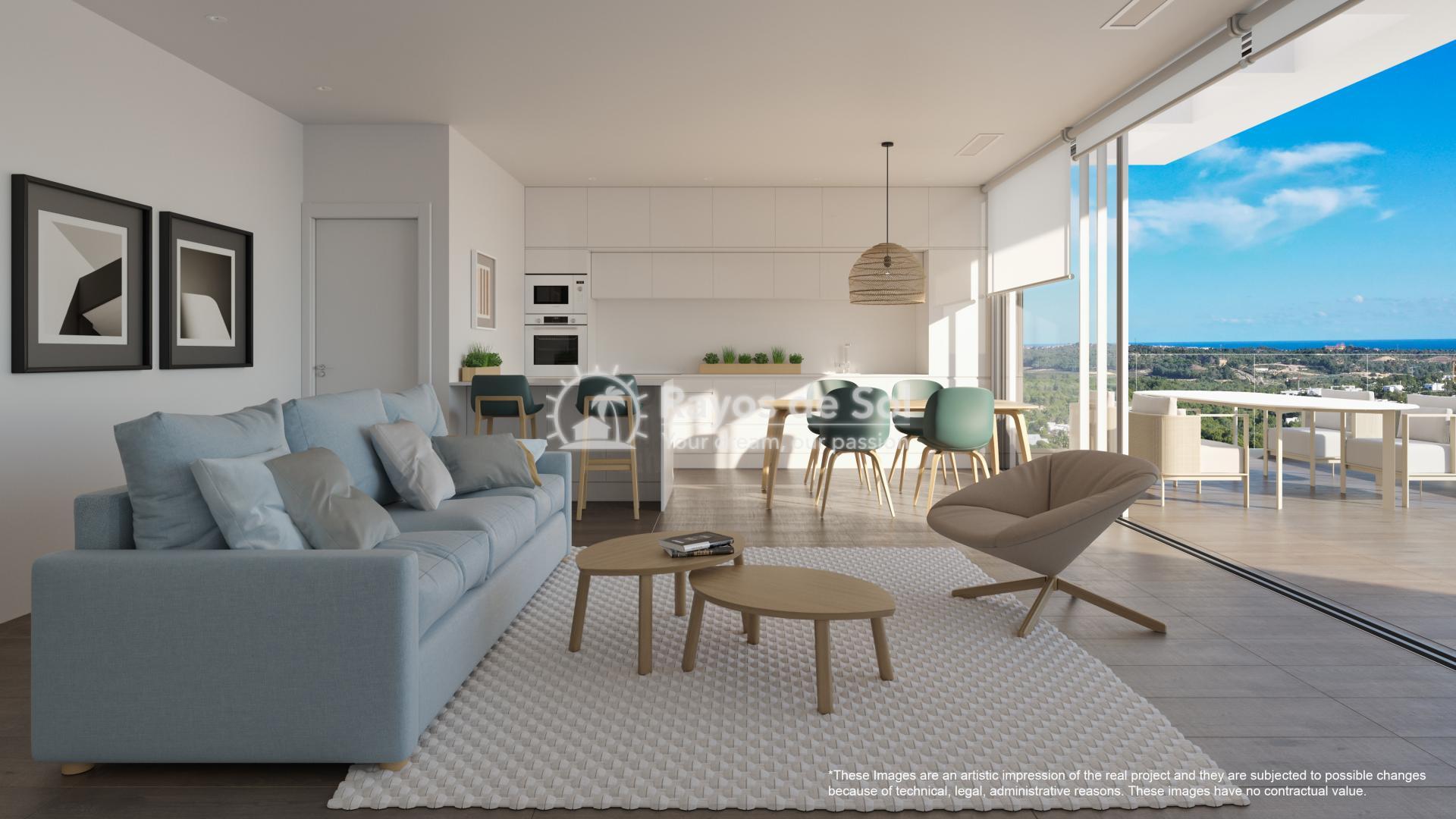 Penthouse  in Las Colinas, Orihuela Costa, Costa Blanca (nisperoap-ph-3d) - 3