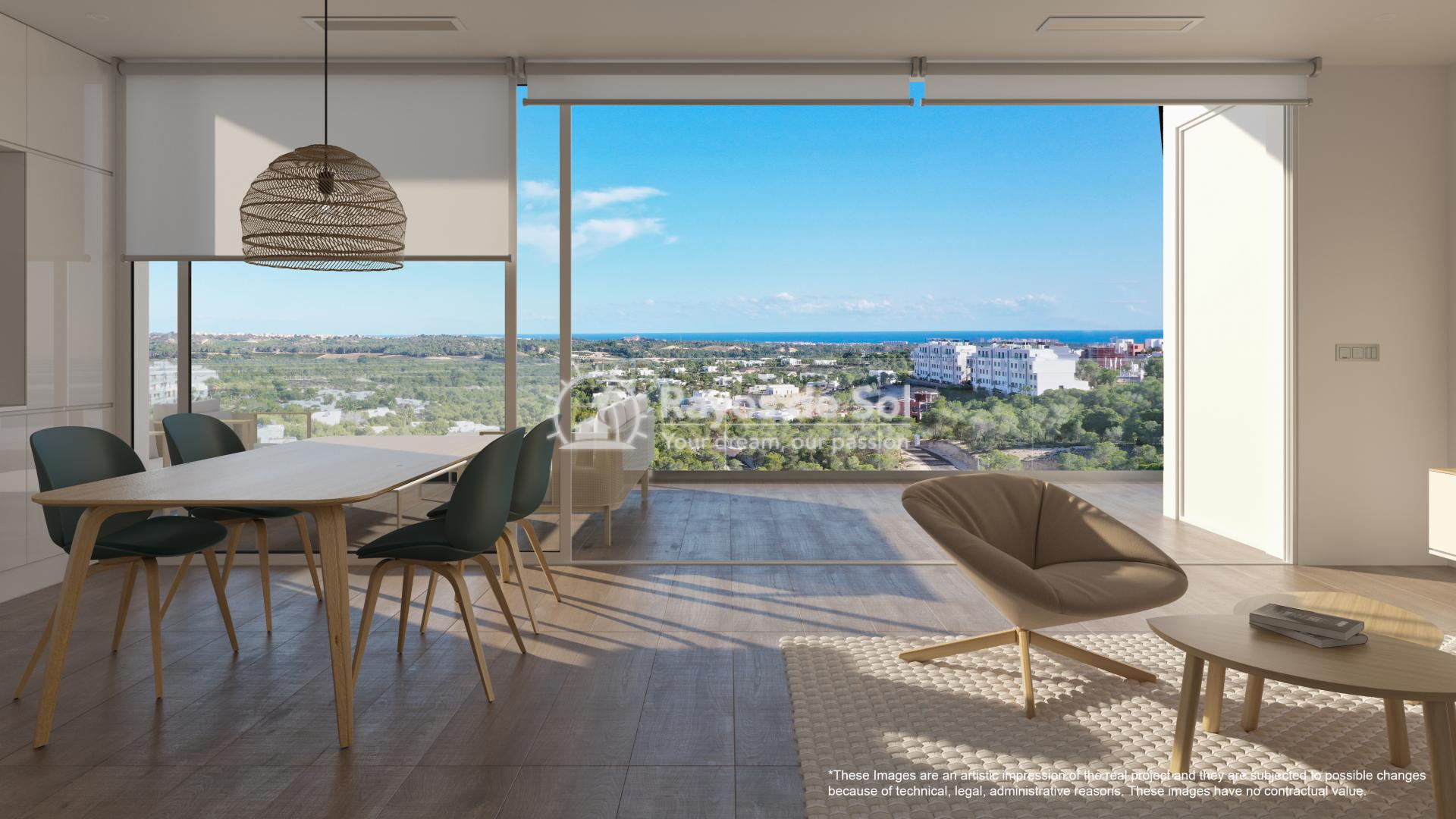 Penthouse  in Las Colinas, Orihuela Costa, Costa Blanca (nisperoap-ph-3d) - 2