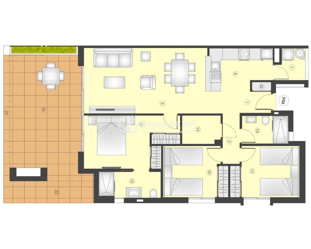 Apartment  in Playa Flamenca, Orihuela Costa, Costa Blanca (flamencav-gf-3d) - 12