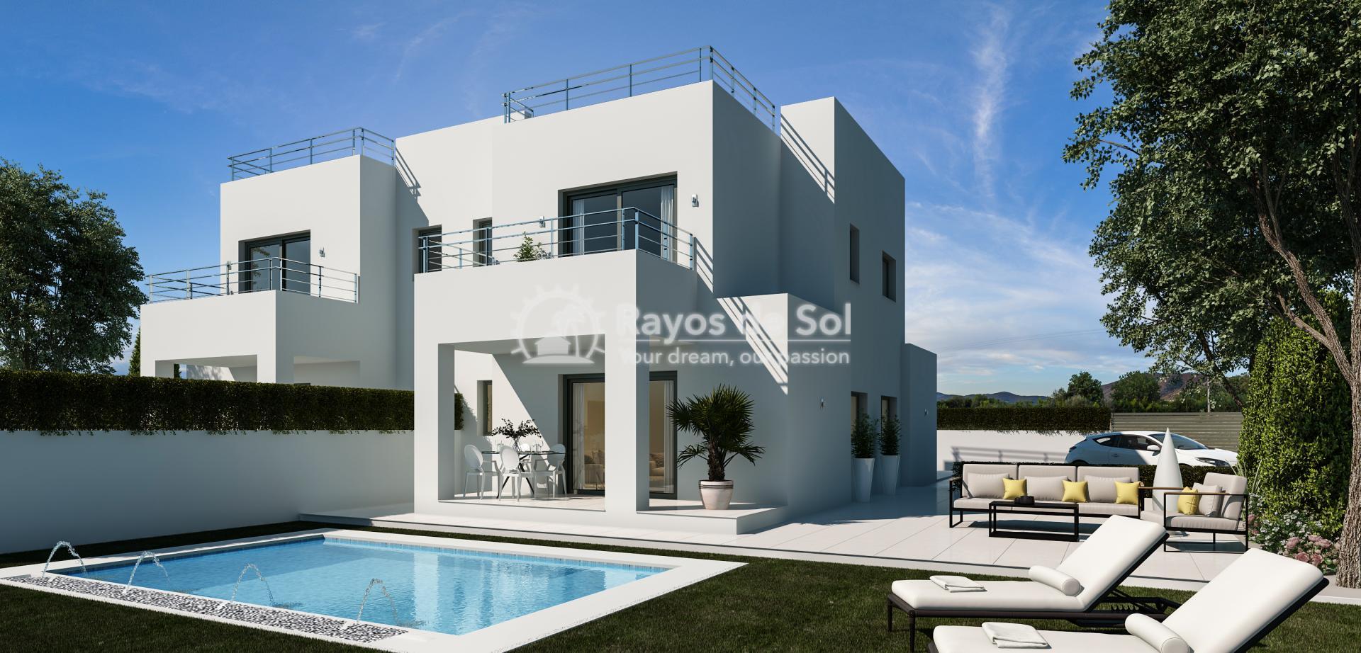 Semi-detached villa  in La Marina, Costa Blanca (npinet15-4d-sd) - 1