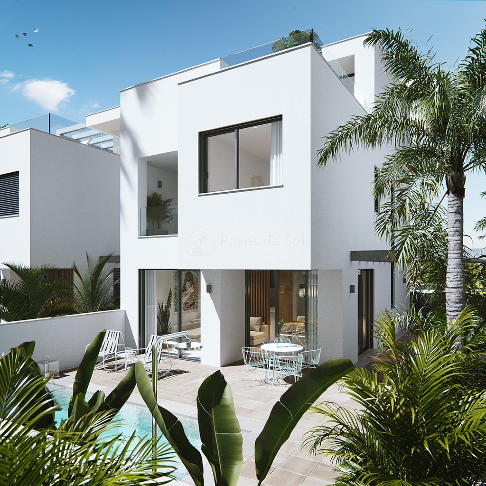 Luxury beachfront villas  in Torre de la Horadada, Pilar de la Horadada, Costa Blanca (Las-Higuericas-v12) - 1