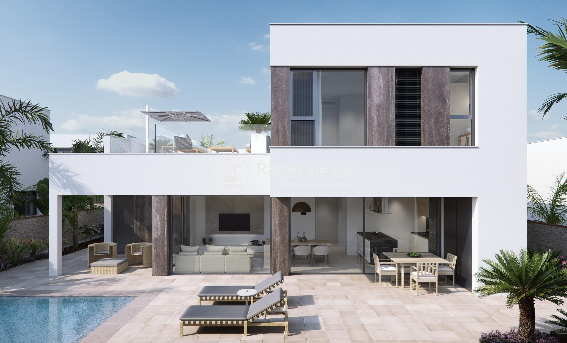 Luxury beachfront villas  in Torre de la Horadada, Pilar de la Horadada, Costa Blanca (Las-Higuericas-V3) - 1