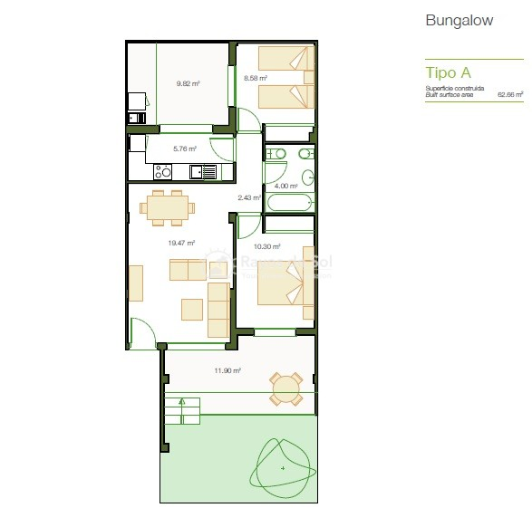 Appartement met zuidwest oriëntatie  in San Cayetano, Costa Cálida (SCRE0055) - 25